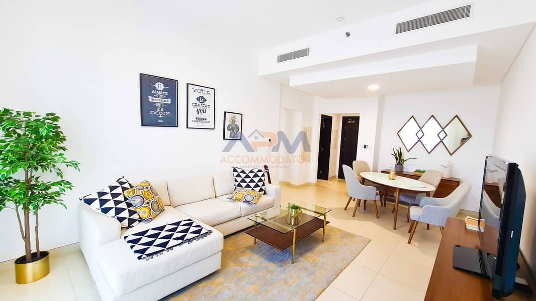 2 NEW ! Fully Furnished ! 2BHK + Balcony With Excellent Finishing.