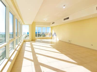 3 Bedroom Flat for Rent in Al Mina, Abu Dhabi - Sea View ! Huge 3 Bed Apartment with Maid.