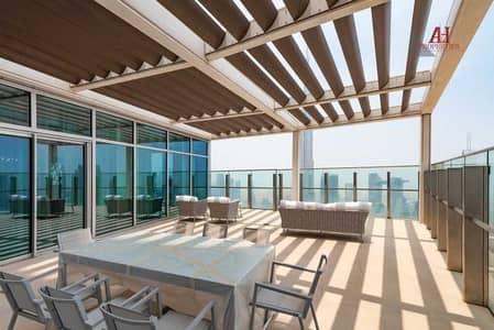 بنتهاوس 3 غرف نوم للايجار في وسط مدينة دبي، دبي - Fountain & Burj View | Terrace Sky collection
