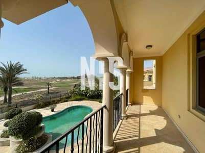 فیلا 6 غرف نوم للايجار في جزيرة السعديات، أبوظبي - spacious excutive villa with golf course view  .
