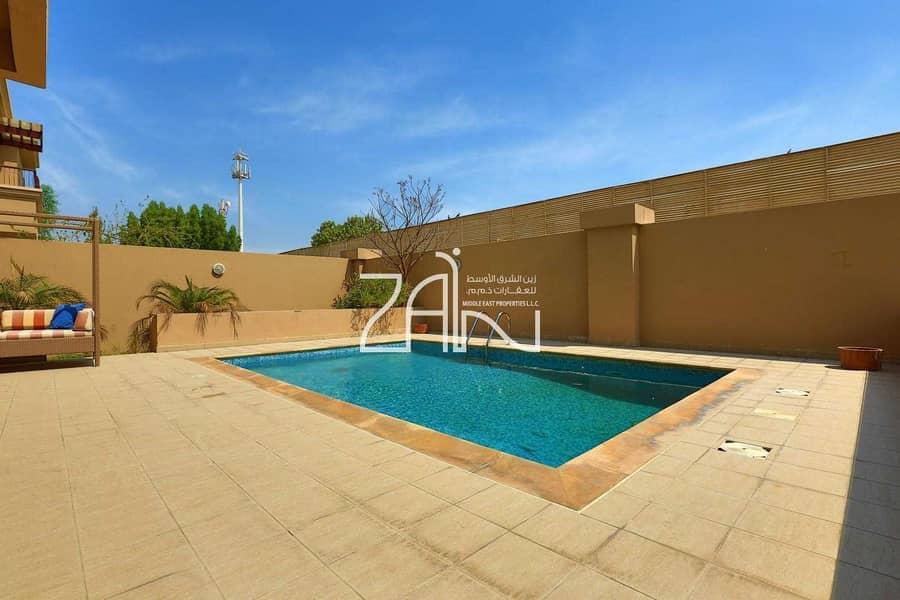 Single Row 5 BR Villa Narjis with Pool and Garden