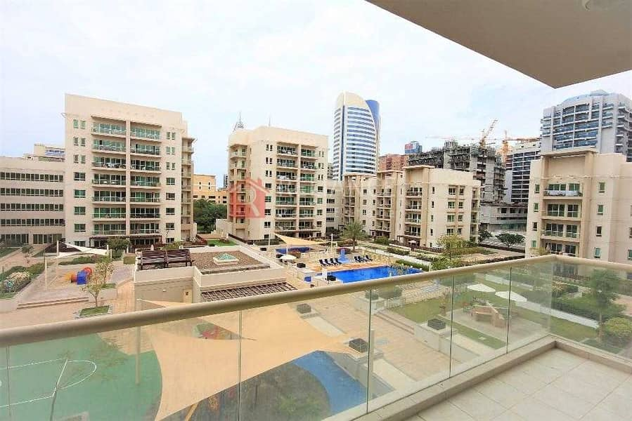 Vacant   2 Bed + Study   Pool Side View A/C Free. .