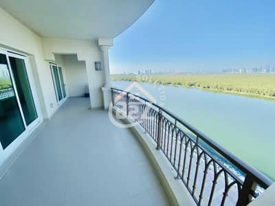 3 Bedroom Apartment for Rent in Al Zahraa, Abu Dhabi - Mangrove View 3 BR with Maid Room