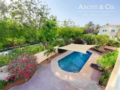 4 Bedroom Villa for Rent in The Meadows, Dubai - Upgraded Floor Private Pool Driver Rooms