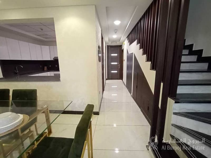 40 EXCLUSIVE LUXURY FURNISHED 3 BED + MAID TOWNHOUSE