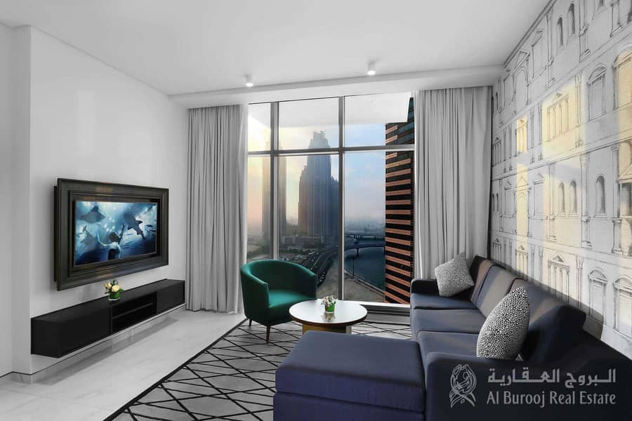 2 All Bills/Utilities included| Furnished 1BHK in 5 Star hotel apt