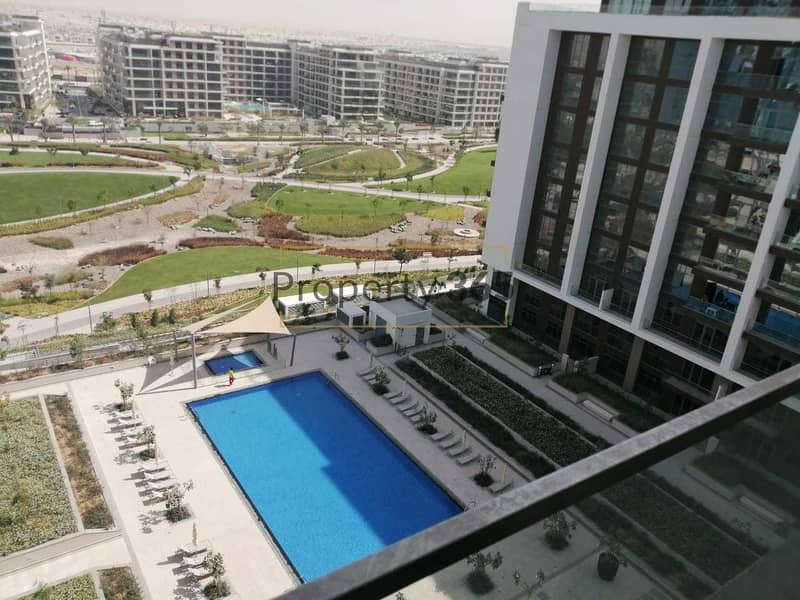 Beautiful pool view / 3 bedrooms + MAID /Spacious Layout