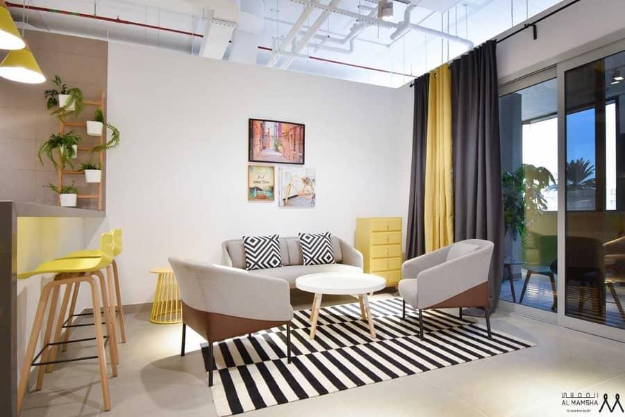 10 Waterfront Living Studio  Apartment Located in Maryam Island Sharjah