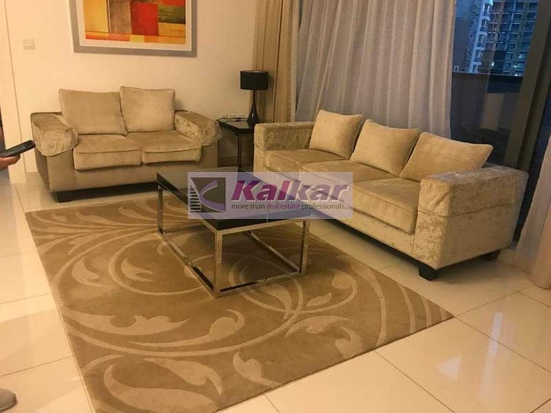 Luxurious and spacious | 1 Bedroom | mid floor | fully furnished | AED. 60 K
