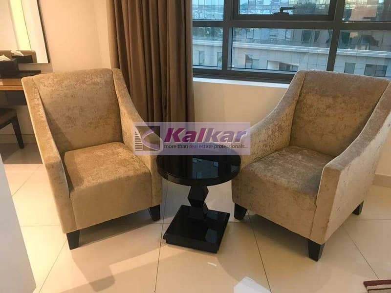 2 Luxurious and spacious | 1 Bedroom | mid floor | fully furnished | AED. 60 K