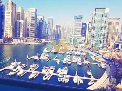 فلیٹ 1 غرفة نوم للايجار في دبي مارينا، دبي - Full Marina and Yatch Club View |Vacant 1 BR |