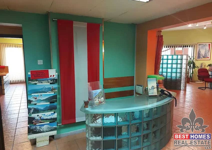 Furnished Office Suitable for, Travel Agency, Beauty Saloon, Clinic, SPA in a Prime Location Opposite Ajman One Towers