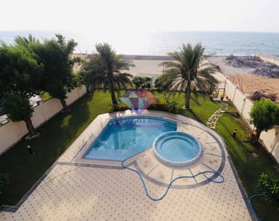 4 Bedroom Villa for Rent in Marina Village, Abu Dhabi - Cheapest Sea front villa with landscaped garden