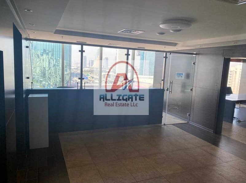 Fully fitted office for rent in Sheikh Zayed Road near metro