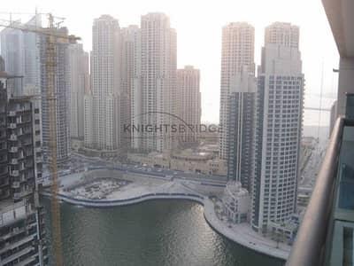 فلیٹ 1 غرفة نوم للبيع في دبي مارينا، دبي - High Floor: Full Marina view 1 Bedroom only Time Place tower