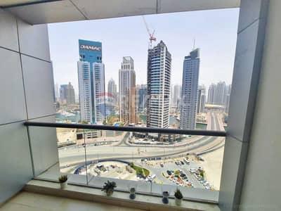 Studio for Rent in Dubai Marina, Dubai - Chiller fee | High floor studio | Marina view