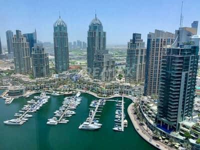 2 Bedroom Flat for Rent in Dubai Marina, Dubai - Bright Furnished 2 Bedrooms   Amazing Marina views