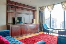 Furnished 2BR with Maids room Downtown & Sea View