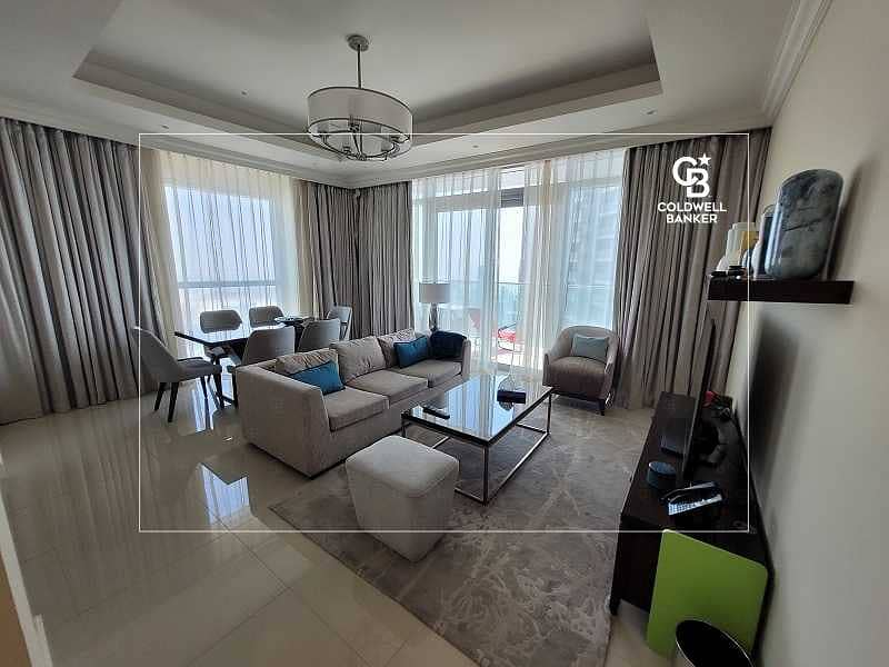 2 Luxurious|Burj Khalifa View| 2 Balconies|Furnished