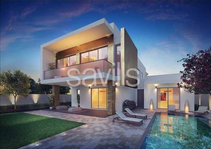 Stunning off plan 5 br villas  at Yas Acres with golf view