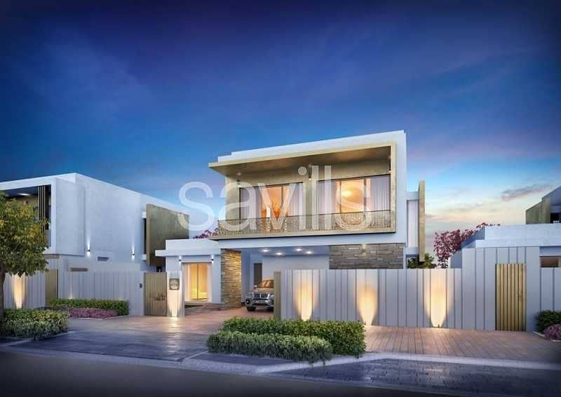 9 Stunning off plan 5 br villas  at Yas Acres with golf view