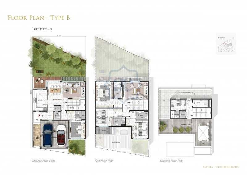 10 Sevilla Townhouses 4BR + M in popular Golf  Homes