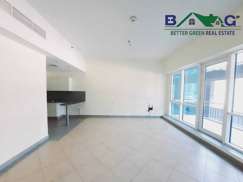 Semi Furnished Studio with Balcony Chiller Free Front of Metro