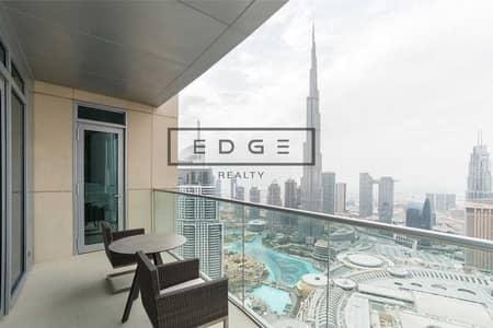 2 Bedroom Hotel Apartment for Sale in Downtown Dubai, Dubai - HIGH FLOOR   MIDDLE UNIT   FULL FOUNTAIN & BURJ
