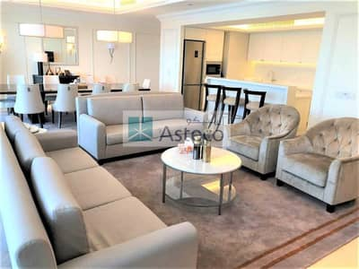 4 Bedroom Flat for Rent in Downtown Dubai, Dubai - Fully Furnished   Maidsroom   High floor