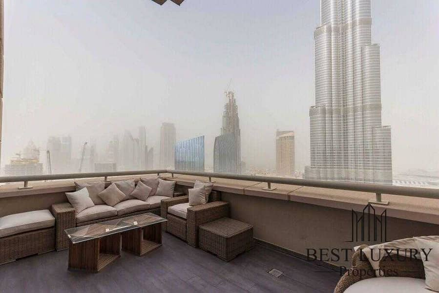 Burj view penthouse with study room