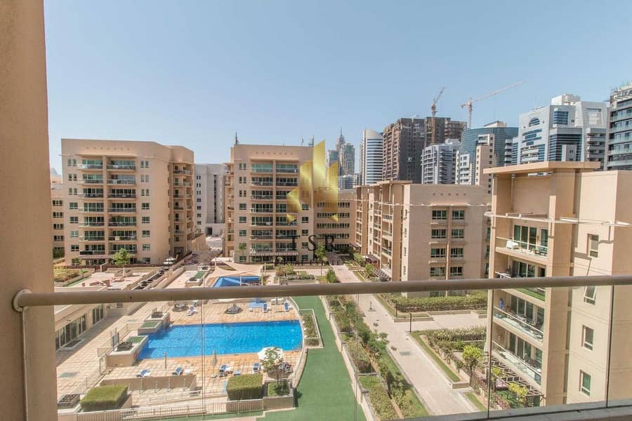 18 Well Maintain | 2BR+S | Pool View