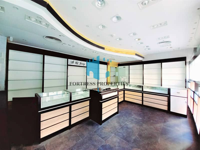 Prime Location I Corner Retail SHOP in Khalifa Street I GF + BASE I 1076 SQ FT