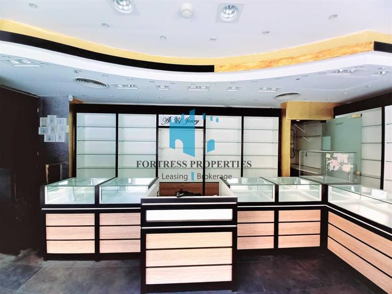 2 Prime Location I Corner Retail SHOP in Khalifa Street I GF + BASE I 1076 SQ FT