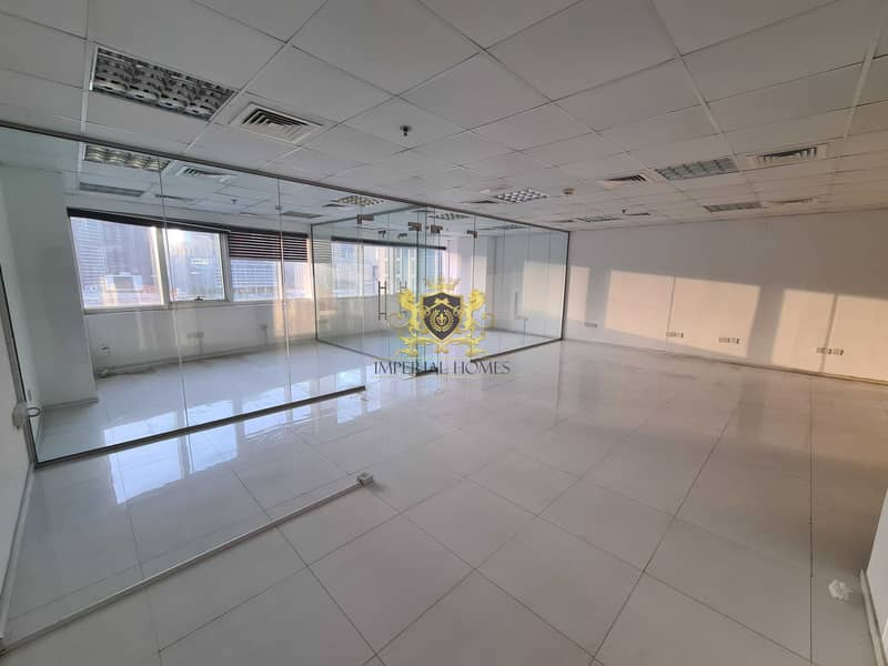 Fitted Office 2 Glass Room + Hall + Reception in HDS Tower