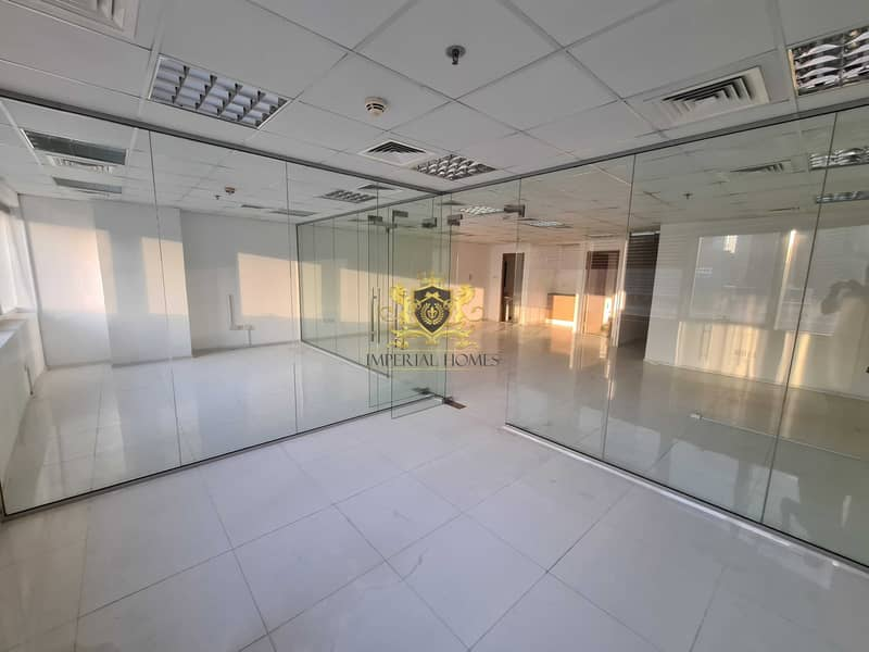 2 Fitted Office 2 Glass Room + Hall + Reception in HDS Tower