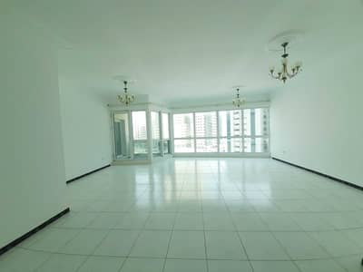 3 Bedroom Flat for Rent in Corniche Al Buhaira, Sharjah - 60 Days Free AC Free Spacious 3BHK Apartment Balcony Open View  with Health Club at Buhairah