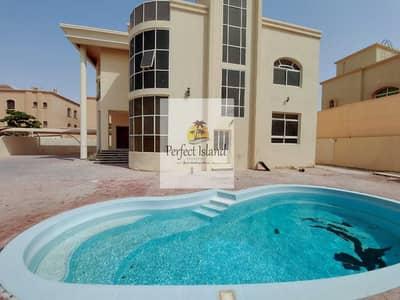 فیلا 5 غرف نوم للايجار في مدينة شخبوط (مدينة خليفة ب)، أبوظبي - Stunningly Mind Blowing 5 BR + M | Private Entrance | Private Pool | Lavish Finishing
