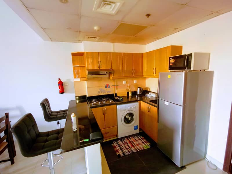 2 Furnished Spacious One Bedroom | Wide Double Balcony