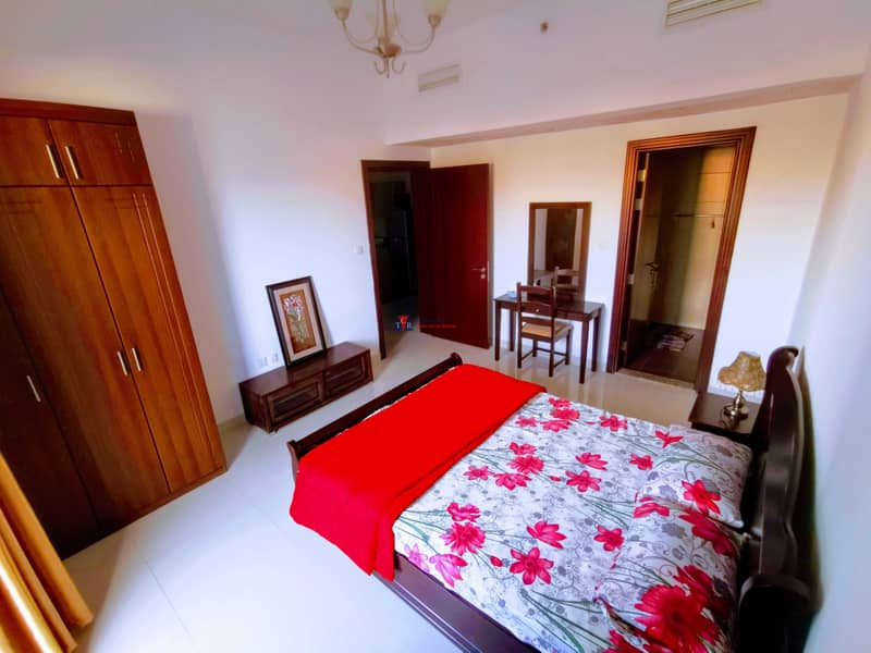 10 Furnished Spacious One Bedroom | Wide Double Balcony