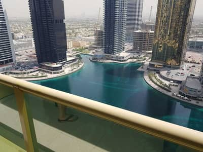 1 Bedroom Flat for Rent in Jumeirah Lake Towers (JLT), Dubai - NEXT TO METRO EXCELLENT 1 BEDROOM FULL LAKE VIEW SEMI OPEN KITCHEN