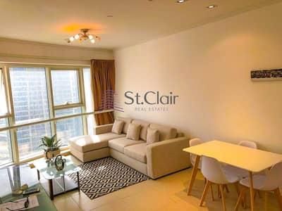 فلیٹ 1 غرفة نوم للايجار في أبراج بحيرات الجميرا، دبي - Fully Furnished I Next To Metro I Lake & Skyline View