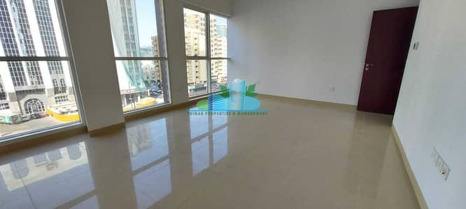 2 Bedroom Flat for Rent in Airport Street, Abu Dhabi - Brand-new 2 Apt. |Underground parking |Near Al Whada Mall |Modern Glossy tiled | Built-in Cabinet |4 chqs