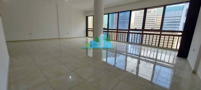 4 Bedroom Apartment for Rent in Tourist Club Area (TCA), Abu Dhabi - Massive 3 Bhk Very Big Balcony  Big Store-room accommodation   4 cheques