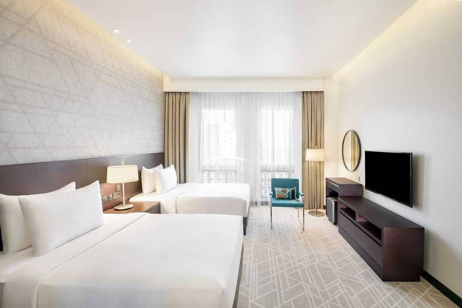 شقة فندقية في فندق حياة بليس الرقة الرقة ديرة 2 غرف 130000 درهم - 5082683