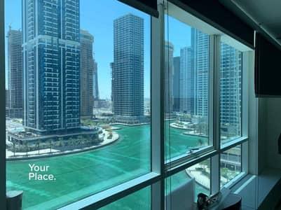 مکتب  للايجار في أبراج بحيرات الجميرا، دبي - Fitted And Partitioned - Lake View