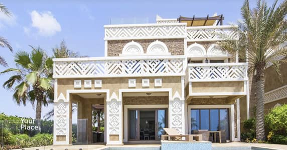 5 Bedroom Villa for Sale in Palm Jumeirah, Dubai - Beachfront Mansion - Vacant - Brand New