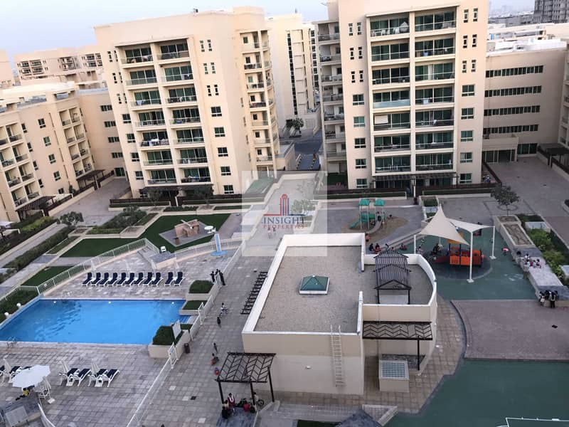 PRICE REDUCED |GREENS|2BR +STUDY| POOL VIEW |