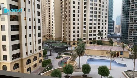 1 Bedroom Apartment for Rent in Jumeirah Beach Residence (JBR), Dubai - FULLY FURNISHED   SPACIOUS ONE   HIGH FLOOR 4 CHQS