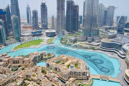 2 Bedroom Apartment for Rent in Downtown Dubai, Dubai - REAL LISTING|FULL BURJ KHALIFA & FOUNTAIN VIEW|CHILLER FREE