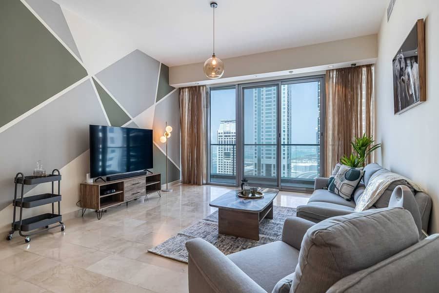 Trendy 2 bed holiday home with Palm Jumeirah Views